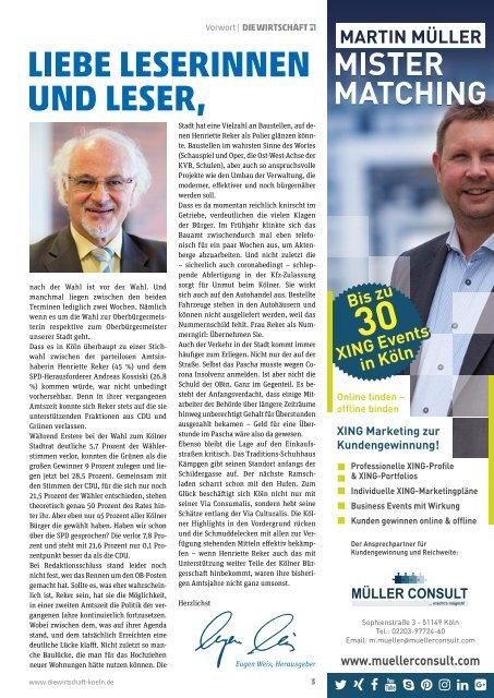 Die Wirtschaft Köln - Ausgabe 06 / 2020