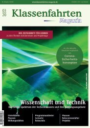 Klassenfahrten Magazin Heft 3/2020
