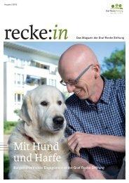 recke:in - Das Magazin der Graf Recke Stiftung Ausgabe 2/2012