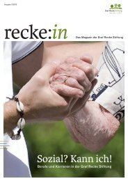 recke:in - Das Magazin der Graf Recke Stiftung Ausgabe 3/2012