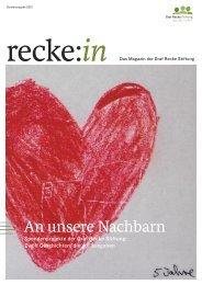 recke:in - Das Magazin der Graf Recke Stiftung Sonderausgabe 2012