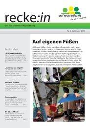 recke:in - Das Magazin der Graf Recke Stiftung Ausgabe 4/2011
