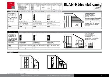 typenliste elan front a. Black Bedroom Furniture Sets. Home Design Ideas