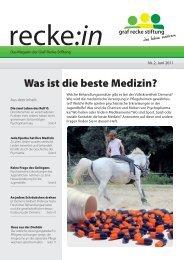 recke:in - Das Magazin der Graf Recke Stiftung Ausgabe 2/2011