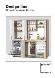 Katalog Design line Single Büroküche - Pro Art