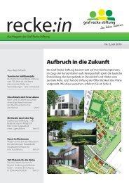 recke:in - Das Magazin der Graf Recke Stiftung Ausgabe 2/2010