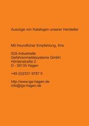 Katalogauszug Novar Sprachalarmierung Standschränke