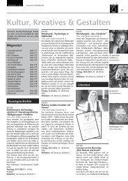 Kultur, Kreatives & Gestalten - Volkshochschule Mühldorf a. Inn