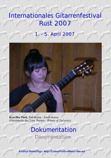 Documentation Rust 2007 2 - Rust International Guitar Festival