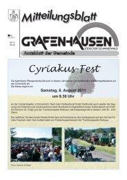 Cyriakus-Fest - Gemeinde Grafenhausen