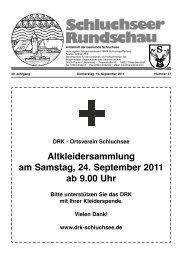 2. Oktober 2011 - Gemeinde Schluchsee