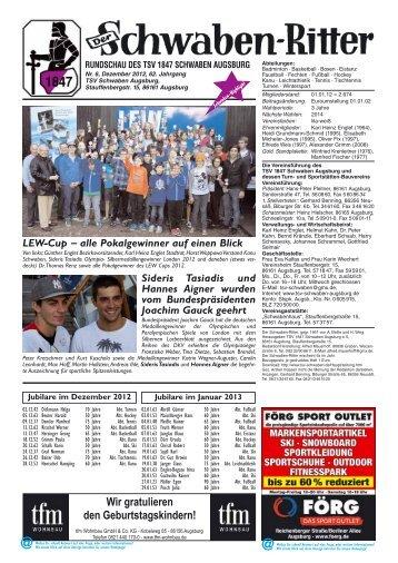 Redaktionsschluss für die Ausgabe 1/2013 - Kanu-Schwaben ...