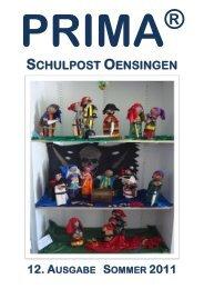 SCHULPOST OENSINGEN - Primarschule Oensingen