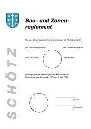 bau- und zonenreglement a. planungsvorschriften - Kanton Luzern