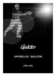 Ausgabe 2003-1 - Gekkos Gerlafingen