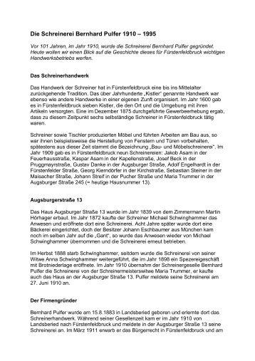 Schreinerei Fürstenfeldbruck zertifiziert nach schweiz