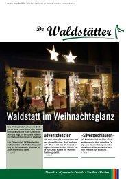 De Waldstätter - Dezember 2011 - Gemeinde Waldstatt
