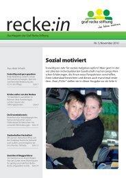 recke:in - Das Magazin der Graf Recke Stiftung Ausgabe 3/2010