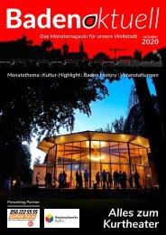 Baden aktuell Magazin Oktober 2020