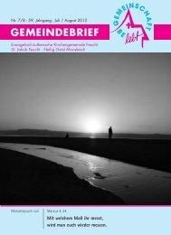 Juli-August 2012.pdf - Evang.-Luth. Kirchengemeinde Feucht