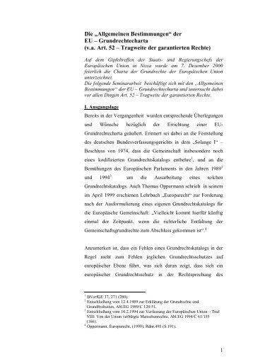 """Die """"Allgemeinen Bestimmungen"""" der EU ... - Jurawelt"""