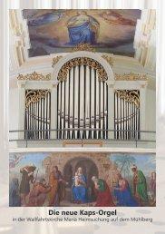 Die neue Kaps-Orgel - Orgelbau Kaps