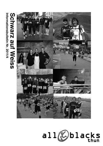 Schwarz auf W eiss - Laufgruppe All Blacks