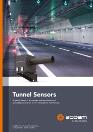 Acoem Tunnel Sensors Solution Snapshot brochure 20200929