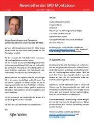 Newsletter der SPD Montabaur