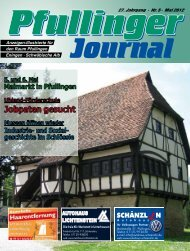 Ausgabe Mai 2012 - beim Pfullinger Journal