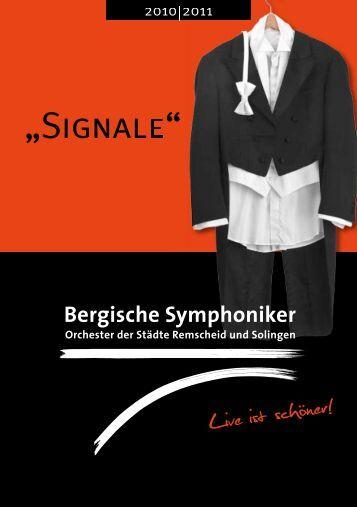 Spielplanbroschüre 2010/2011 (pdf, 5.5MiB) - Bergische Symphoniker
