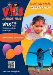Programm der Jungen VHS 2020/21