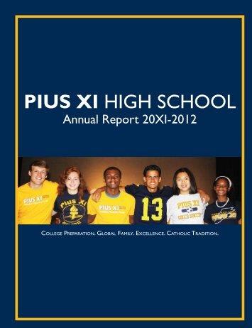 annual report 20xi/2012 - Pius XI High School