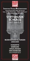 musikveranstaltungen 2008/2009 konzerte ... - Schlägl Musik