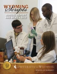 ANNUAL REPORT AND NEWS • 2012 - University of Wyoming