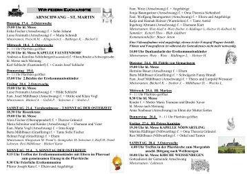 Pfarrbrief Nr_2012_16_17 - Pfarrei Arnschwang