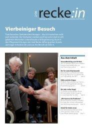 recke:in - Das Magazin der Graf Recke Stiftung Ausgabe 2/2008