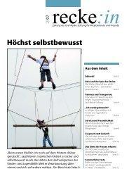 recke:in - Das Magazin der Graf Recke Stiftung Ausgabe 2/2007