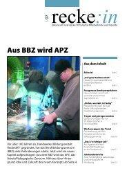 recke:in - Das Magazin der Graf Recke Stiftung Ausgabe 1/2007