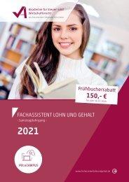 Fachassistent Lohn und Gehalt 2021