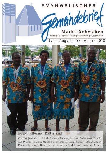 Juli - August - September 2010 - Evangelisch-Lutherische ...