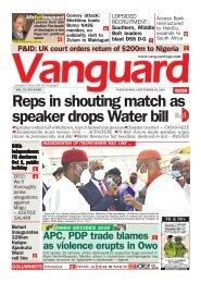 30092020 - Reps in shouting match as speaker drops Water bill