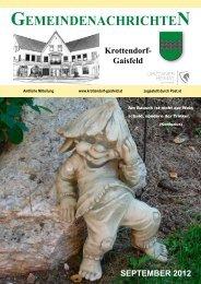 Gemeindezeitung September 2012 - Gemeinde Krottendorf-Gaisfeld