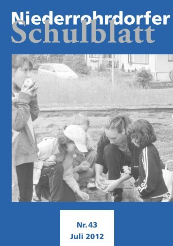 Schulblatt Niederrohrdorf - Schule Niederrohrdorf