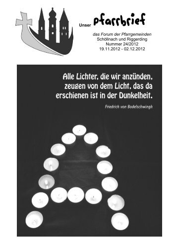 Unser Pfarrbrief - Pfarrverband Schöllnach-Riggerding-Außernzell