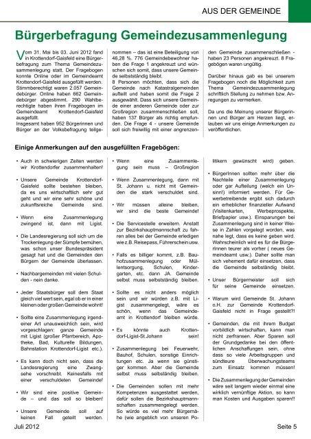 Gemeindezeitung Juli 2012 - Gemeinde Krottendorf-Gaisfeld