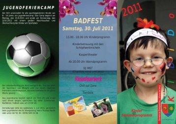 Kinder Sommerprogramm BADFEST Samstag, 30 ... - Ebergassing