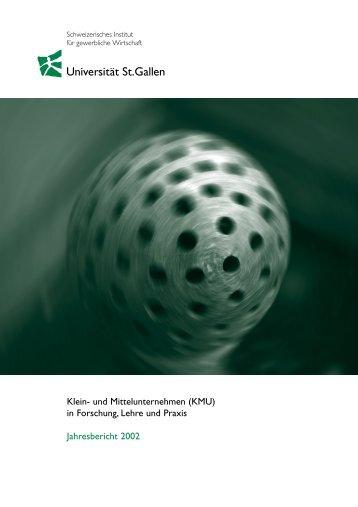 Jahresbericht 2002 - Alexandria - Universität St.Gallen