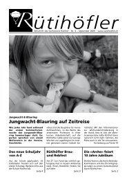 coiffure - kosmetik - Rütihöfler Chronik