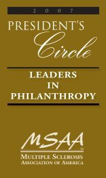 leaders in philanthropy - The Multiple Sclerosis Association Of ...
